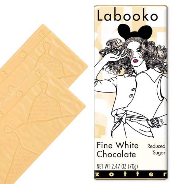 Zotter Labooko Chocolate Blanco bajo en azúcar