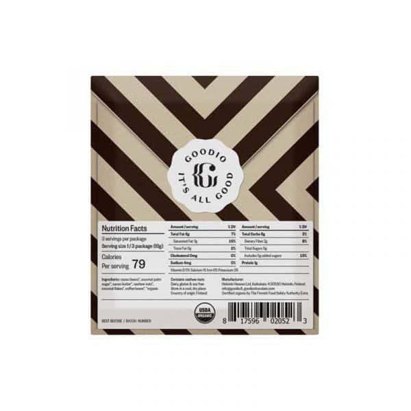 Chocolate Goodio Coffee 56% Ingredientes
