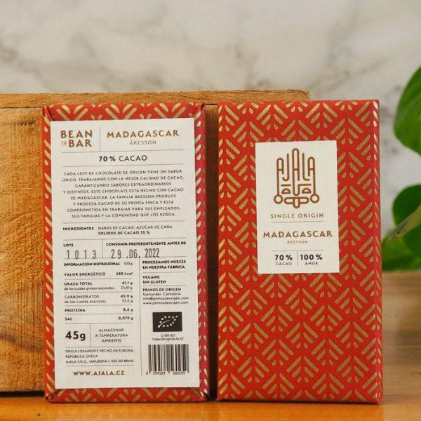 Chocolate Ajala Madagascar 70% Ingredientes