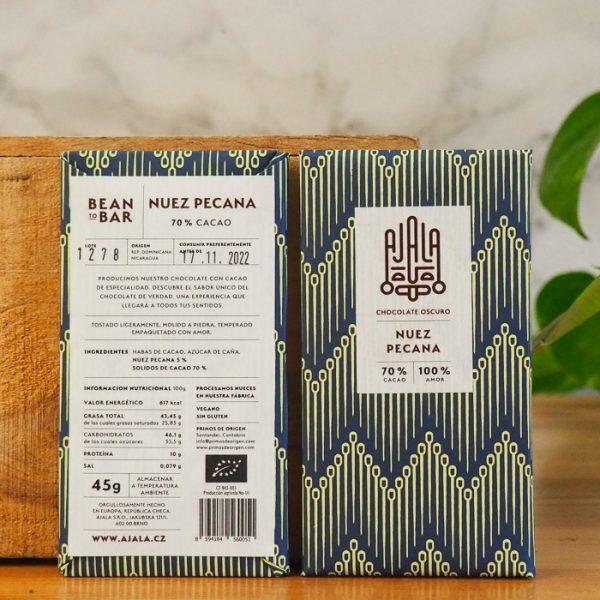 Chocolate Ajala Nuez Pecana 70% Ingredientes