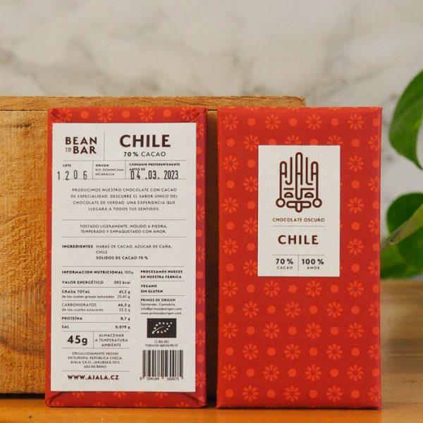 Chocolate Ajala Chili 70% Ingredientes