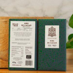 Chocolate Ajala Nibs de Cacao 70% Ingredientes