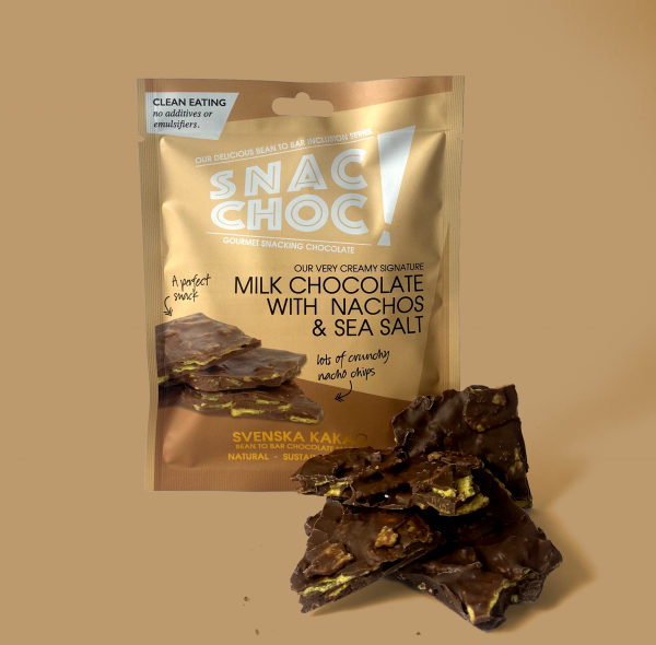 Snac Choc Milk Chocolate, Nachos & Sal tableta